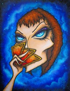 Illusions by Natalie VonRaven  Acrylic 11x14  Art Painting Acrylic Lowbrow