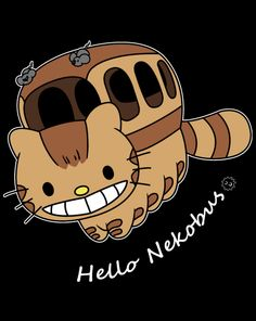[Hello Nekobus] by loststrips is being reviewed on www.ShirtRater.com!  #Hayao Miyazaki #totoro #studio ghibli