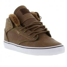 Globe Shoes Mens Motley Mid Faux Fur Lined Distressed Brown Fur - £54.99