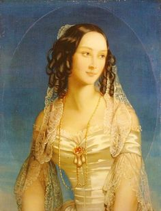 Christina Robertson Portrait of Grand Duchess Zinaida Yusupova - Handmade Oil Painting Reproduction on Canvas