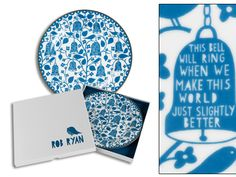 10.5 inches Bells Plate by Rob Ryan | Twinings online tea shop | Plates