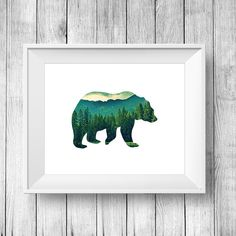 Hey, I found this really awesome Etsy listing at https://www.etsy.com/listing/235553569/bear-print-bear-art-bear-wall-art-bear