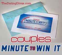 Couples Minute-to-Win-It party games