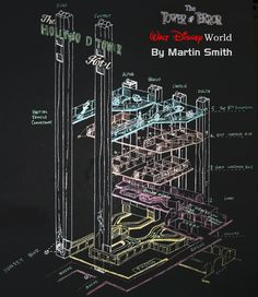 Cool schematic of the Tower of Terror @ Disney's Hollywood Studios