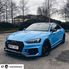 The great thing about 'Audi exclusive' is that you can get almost any color How about a Porsche original Riviera blue on the new Bmw, Audi Rs8, Porsche, Bugatti, Lamborghini, Ferrari, New Sports Cars, Sport Cars, Audi Rs5 Sportback
