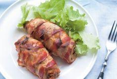 Baconbe csavart gombás karaj