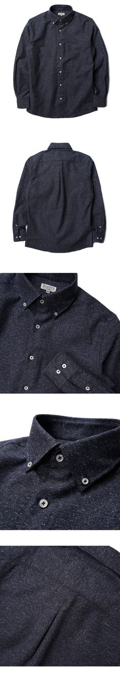 매료 - Y SHIRTS (Jazznep Oxford Button down Shirts - Navy)