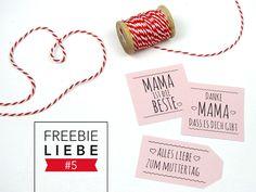 Geschenkanhänger für die Mama - für zwischendurch oder zum Muttertag! #freebie #muttertag