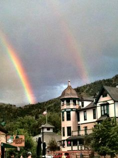 Saw a beautiful double rainbow in Manitou Springs, CO. 8/11.