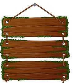 Wood banner. Best banners signs