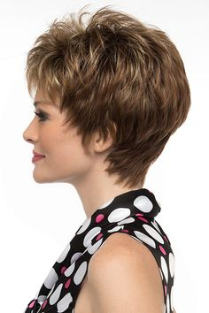 With her gossamer-like Open Top construction and her ultra modern pixie cut, Jacqueline by Envy is the essence of comfort and style. Short with generous volume, this wig has dreamy, wispy bangs and perfect layering to accentuate your cheekbones. Short Curly Pixie, Short Pixie Haircuts, Short Wigs, Haircut For Older Women, Short Hairstyles For Women, Bob Hairstyles, Wedge Hairstyles, Latest Hairstyles, Short Hair With Layers