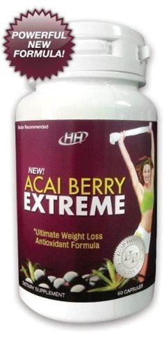 Acai Berry Extreme - Powerful New Formula: All-In-One Weight Loss, Colon Cleanse, Antioxidant, Appetite Suppressant, Metabolism Booster Diet Pill Formula --- weight-loss-supplements-that-work Easy Weight Loss, Healthy Weight Loss, How To Lose Weight Fast, Reduce Weight, Metabolism Supplements, Herbalife Weight Loss, Acai Berry, Healthy Foods To Eat