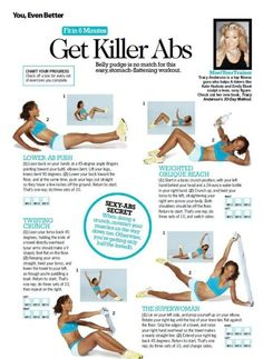 Killer Abs Workout // by Tracy Anderson Fitness Motivation, Fitness Diet, Health Fitness, Tracy Anderson, Forma Fitness, Workout Bauch, Killer Abs, Ab Workouts, Workout Exercises
