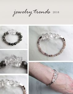 Top jewelry trends for 2018: chunky bead bracelets using gemstones with real meaning behind them! Learn more at http://www.natashaschneider.com/