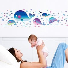 Hatop Creative Wall Fish Bedroom Sitting Room Background Wall Stickers * More info could be found at the image url.