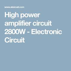 700w power amplifier with 2sc5200 2sa1943 circuit schematic rh pinterest com