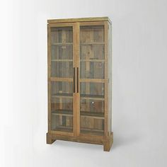 Emmerson Display Cabinet #WestElm. Beautiful display cabinet made from FSC-certified reclaimed pine. Love it!
