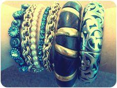 bangles, bracelets, silver, wood
