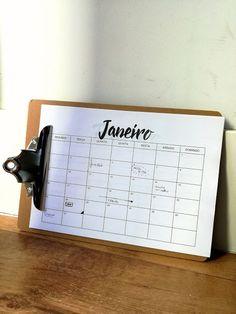 Free Printable Calendar Calendário 2017 em Português