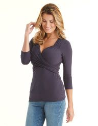 Florence Top in Navy by Pepperberry Tops