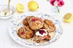 Spelt scones met vanille en frambozen