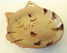 Shino vitré couchage cuillère de chaton, plaque fabriqué sur commande