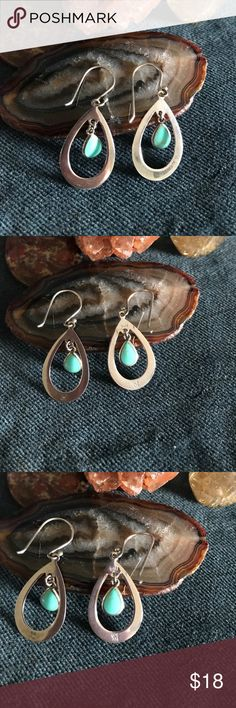 Turquoise and Sterling Silver Dangle Earrings Turquoise and Sterling Silver Dangle Thia Earrings                       Signed: Thia, 925, ATI.                                                                           If you don't like my price make me a offer! Jewelry Earrings