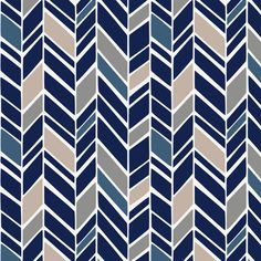 Taupe and Windsor Navy Herringbone fabric available by the yard from Carousel Designs.