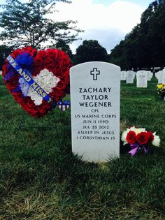 Zachary Taylor Wegener, CPL U.S.M.C. July 28, 2014--Section 60,Grave 10222