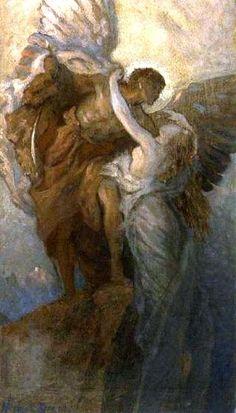 File:Herbert James Draper, Study for day and the dawnstar. Rennaissance Art, Greek Mythology Art, Classical Art, Angel Art, Art Abstrait, Old Art, Pretty Art, Aesthetic Art, Oeuvre D'art