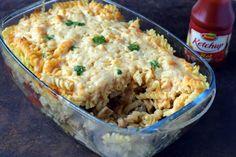 "Makaronowa zapiekanka ""gyros"" – Smaki na talerzu Tortellini, Fried Rice, Macaroni And Cheese, Lunch Box, Food And Drink, Menu, Healthy Recipes, Dinner, Cooking"