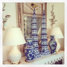 Blue and white tulipieres - where can I get these for not a fortune?