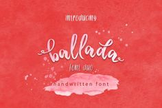 Ballada Brush Font by thirtypath on @creativemarket