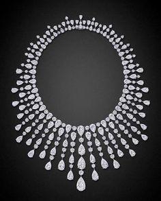 Diamond Fringe Necklace by Graff! #Saturday  #Jewelry  #Necklace…
