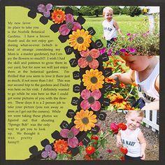 Garden Scrapbook Layout Ideas http://www.scrapbooksetc.com/theme/hobbies-leisure/garden-scrapbook-layout-ideas/?page=11