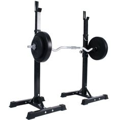Physionics® HTAL01 Barbell Squat Rack Stand for Curl Bar: Amazon.co.uk: Sports & Outdoors £50