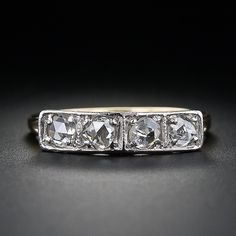 Rose Cut Diamond Band Ring - 110-1-3870 - Lang Antiques