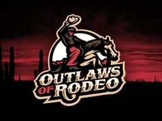 Outlaws of Rodeo #logo   American Sport Theme Logo