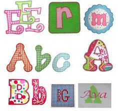 Free Alphabet Templates for Applique | Free Sewing Applique Template Library and Applique Information