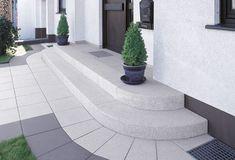 Tocano Granithell Arcadia Modena und Padua Arcadia Granithell Modena Padua ronde Tocano und is part of Front porch steps - Steps Design, Garden Design, Porch Steps, House Entrance, House Exterior, Patio Design, Front Porch Steps, Front Patio, Back Garden Design