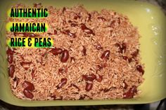AUTHENTIC JAMAICAN RICE AND PEAS RECIPE   The Jamaican Mother