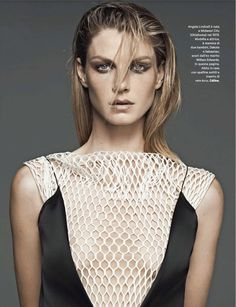 ANGELA LINDVALL BY DRIU + TIAGO FOR AMICA JUNE 2013