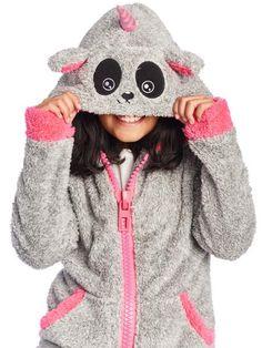 0a0e546c18b5e Veste Pandicorne Enfant – BeGummy Vêtements Confortables, Veste A Capuche,  Gris Chiné, Fourrure