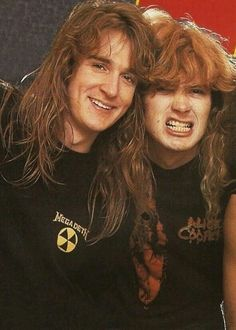 Dave Mustaine and David Ellefson of Megadeth.