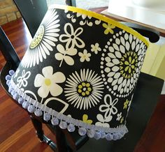 the vintage umbrella: Recover a lampshade