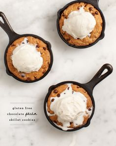 gluten free chocolate pecan skillet cookies - Love and Lemons