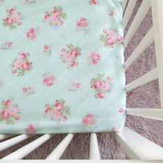 Vintage floral crib sheet, cot sheet, custom nursery, custom baby bedding, crib…