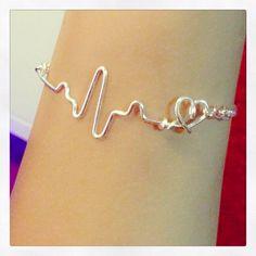 heartbeat EKG bracelet. by BENTbyVictoria on Etsy, $15.00