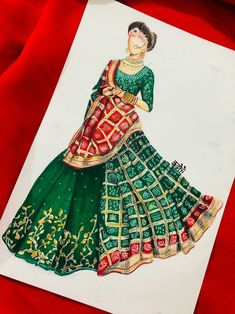 Fashion Design Books, Fashion Design Drawings, Fashion Sketches, Dress Illustration, Fashion Illustration Dresses, Fashion Drawing Tutorial, Fashion Figure Drawing, Dress Design Drawing, Bridal Lehenga Collection