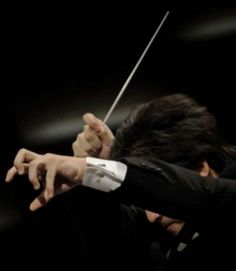 Orchestra conductor's hands